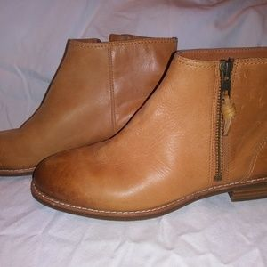 Sperry top sider brown leather ankle boot size 5.5
